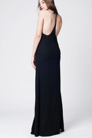 Vestido longo negro para  festa