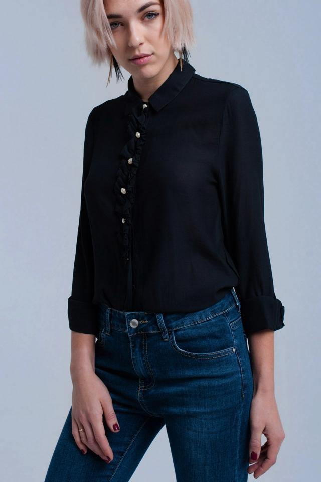 Camisa preta com botões