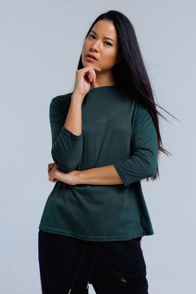 Camisa verde com alça elástica