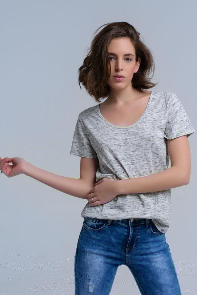T-shirt cinza com impressão speckle