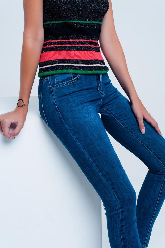 Calça jeans básica azul escura