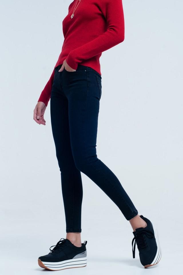 Jeans skinny preto básico
