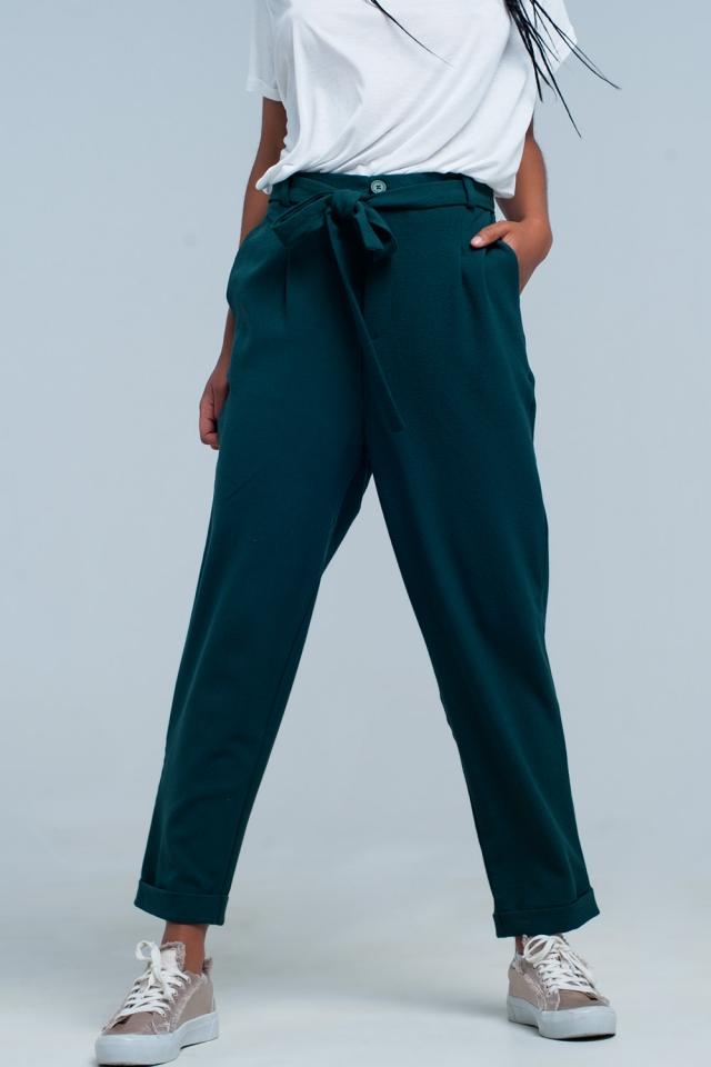 Dark green formal pants