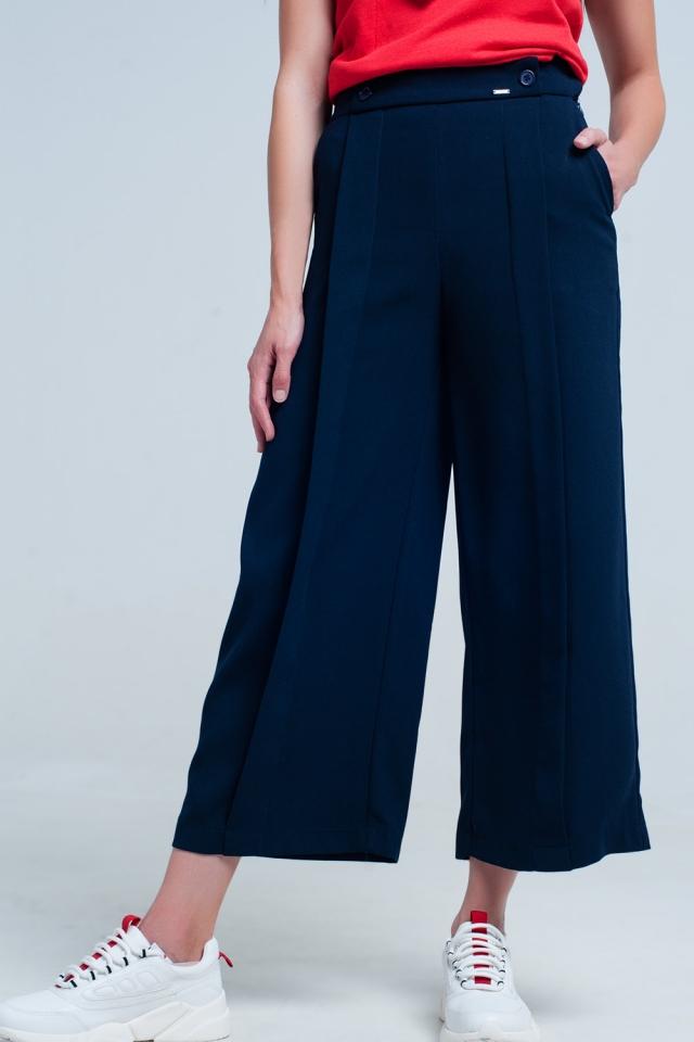 Navy pants wide leg