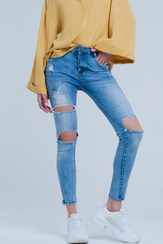 Calças de ganga leve, jeans apertados