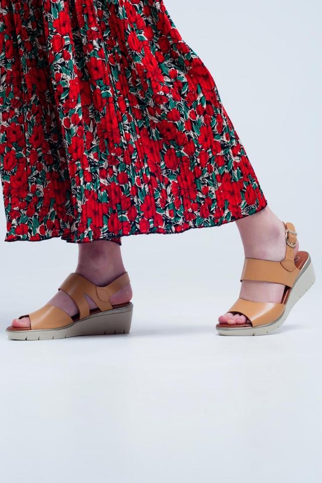 Sandálias de bege