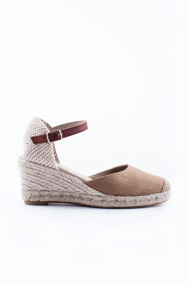 Sandália de salto creme