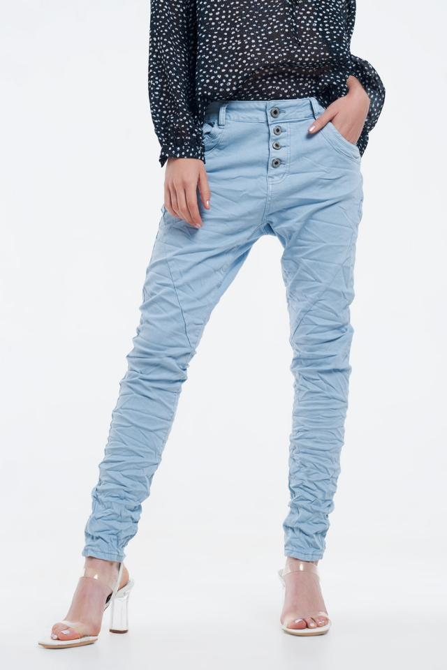 Calças de ganga Boyfriend original em azul