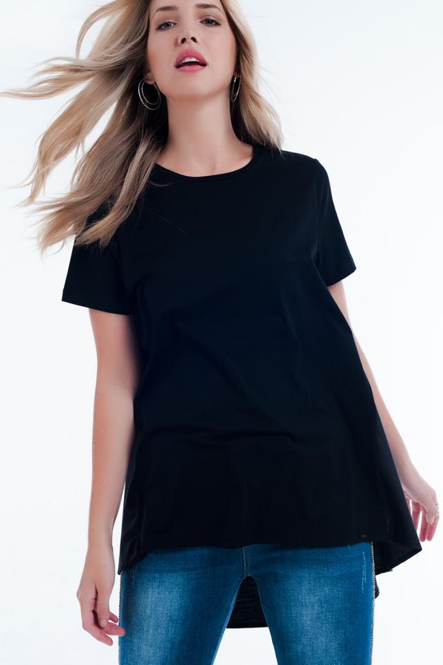Vestido t-shirt em preto