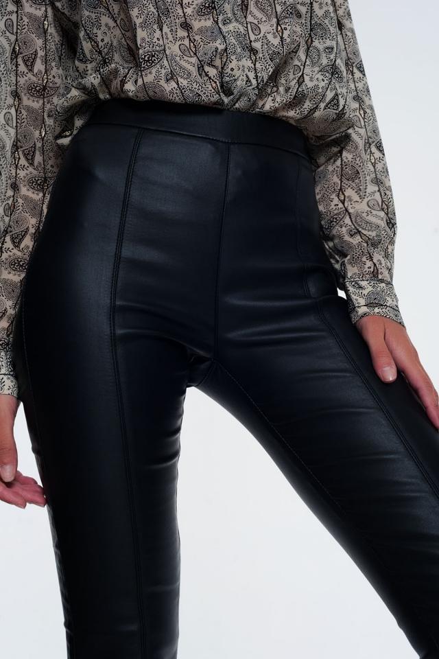 Leggings preto com cintura elástica super skinny