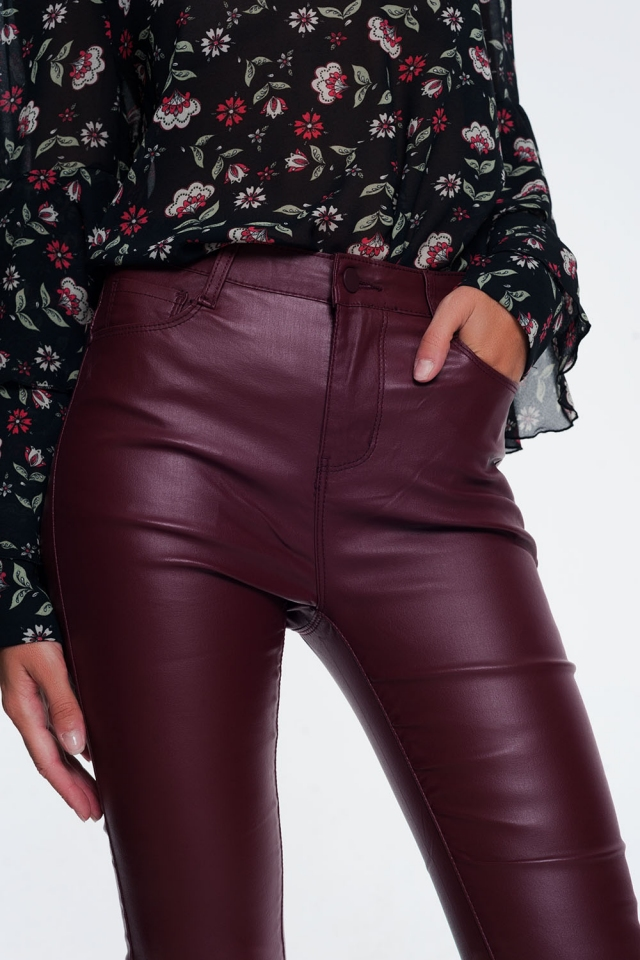 jeans maroon