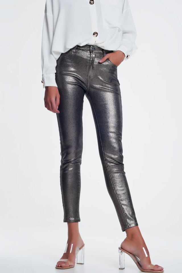 silver snake pants