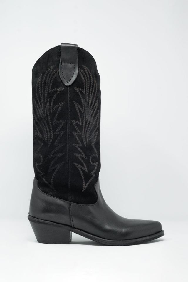 Botas de cano alto pretas