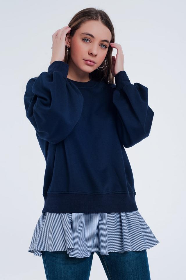 Navy blue classic sweater