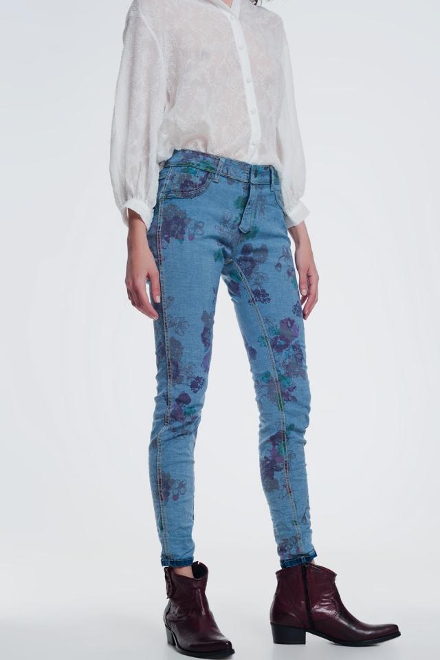 jeans skinny jeans enrugados
