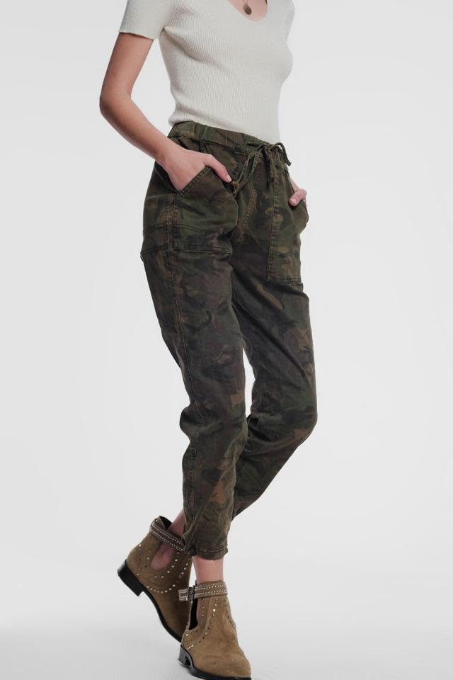 Calças militares de camuflagem