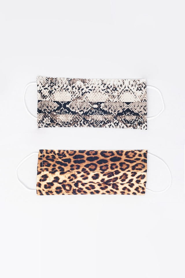 2 PACK Máscara Pitão e leopardo