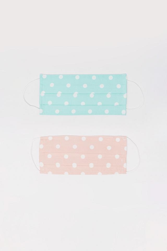 2 PACK Máscara de bolinhas azul e rosa