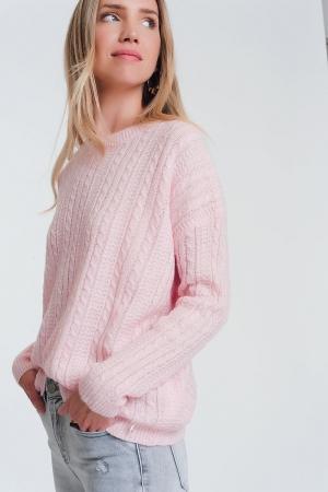 Camisola de cabo rosa