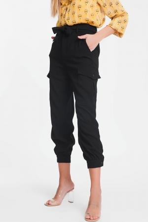 Calças cargo com faixa preta