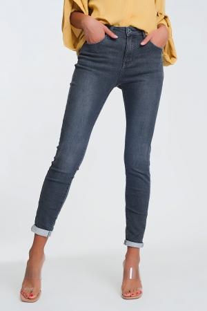 calças de ganga cintura alta com brilho