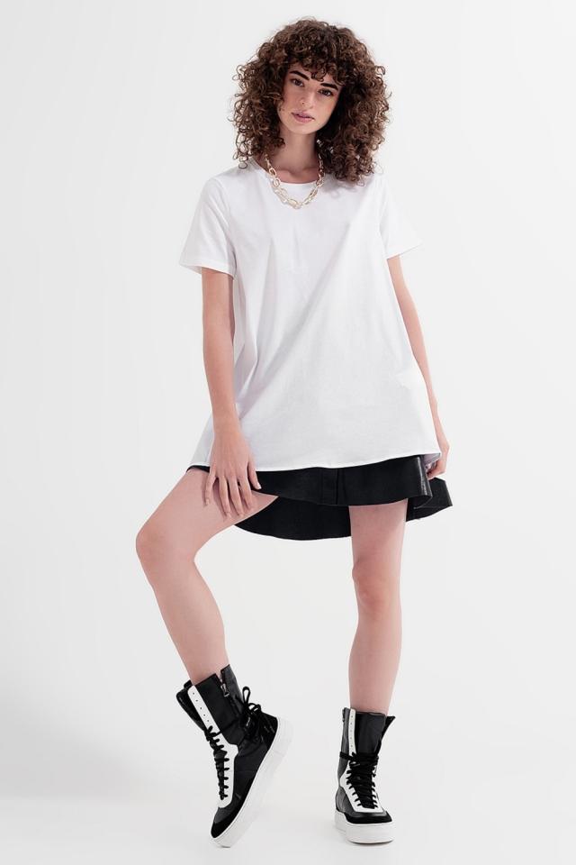 Vestido t-shirt em branco