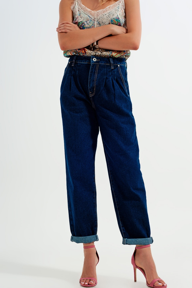 Calças de ganga folgadas azuis