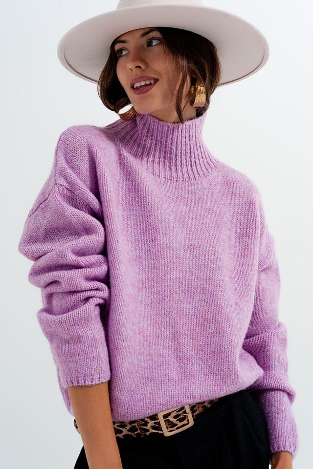 Camisola púrpura confortável